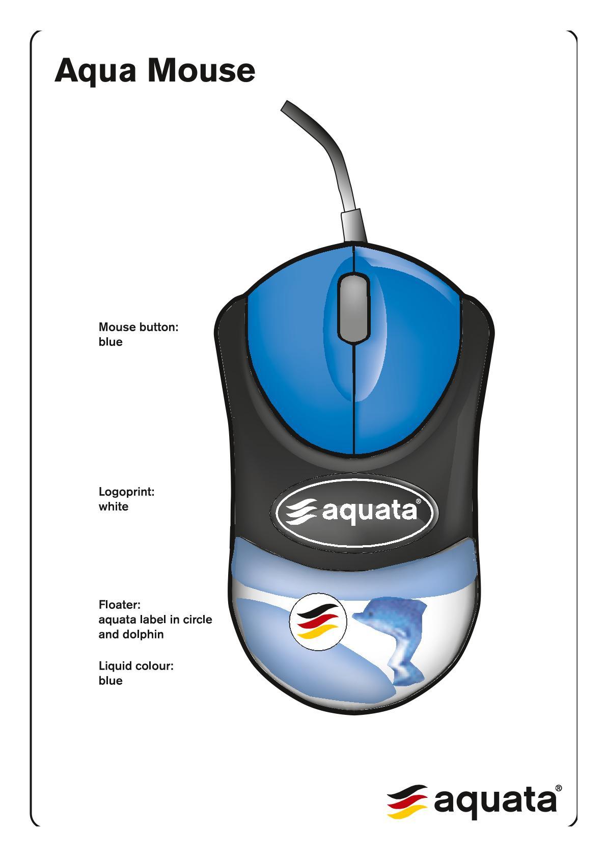 Computer PC Maus   aquata  kabelgebunden