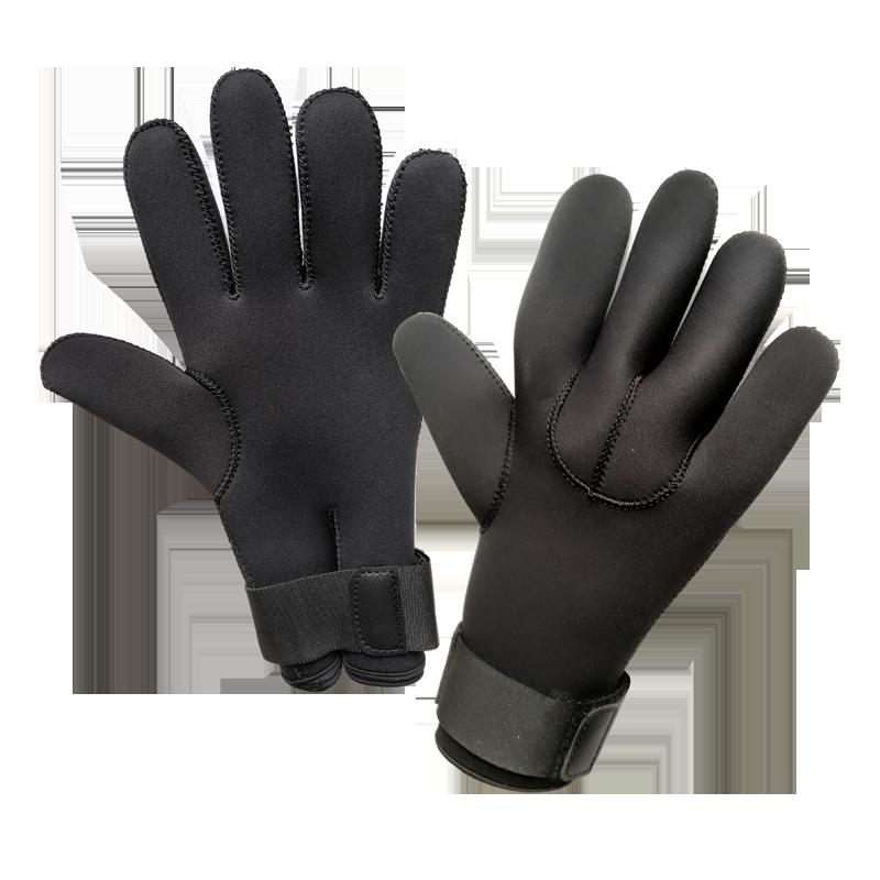 Taucher Handschuh  5 Finger,  5mm Neopren    Modell Seagrip Blank