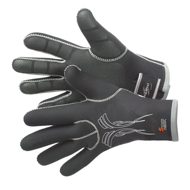 Tauchhandschuh    aus Neopren   5-Finger Handschuh    Modell Seagrip Eco