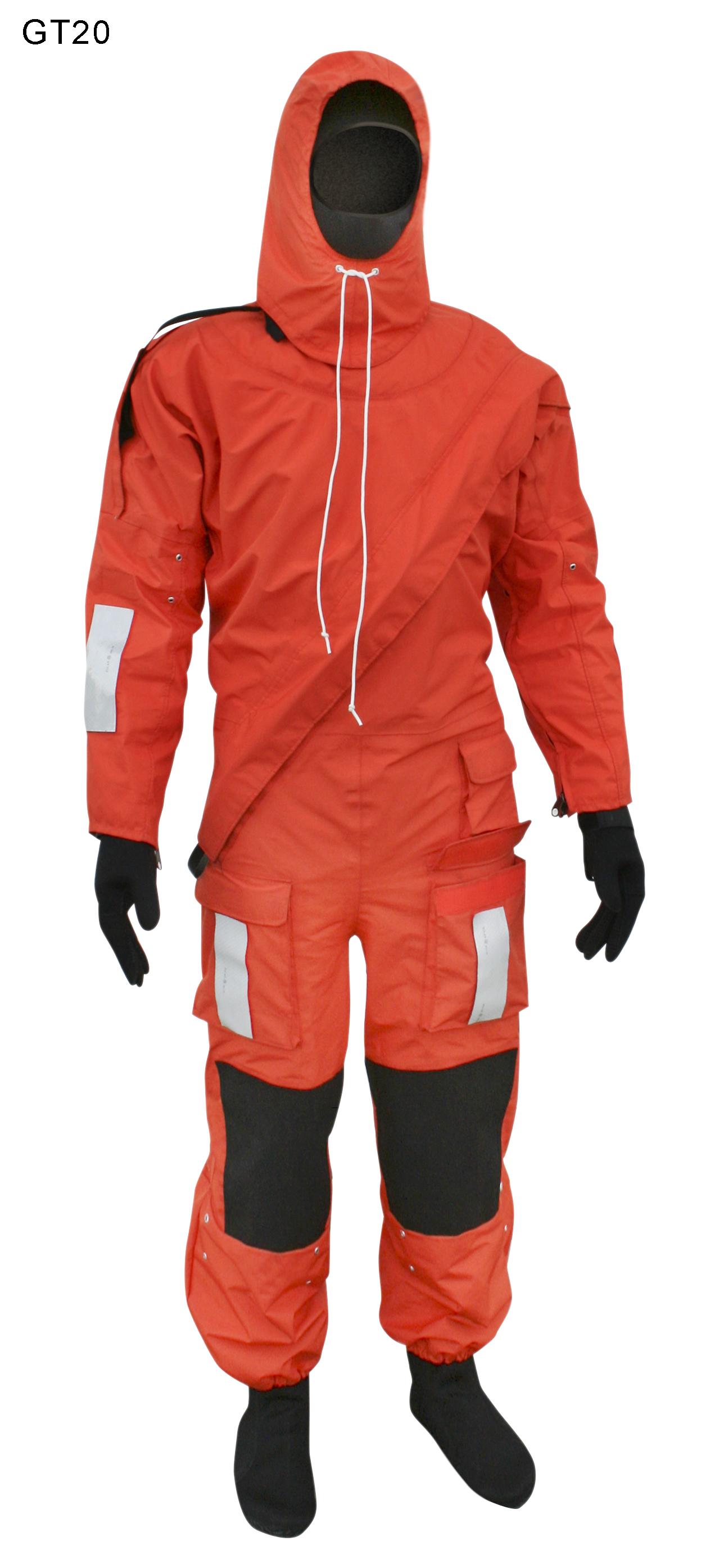 Schutzanzug und Rettungsanzug  mit  Waerme Futter SOLAS   Modell GT20