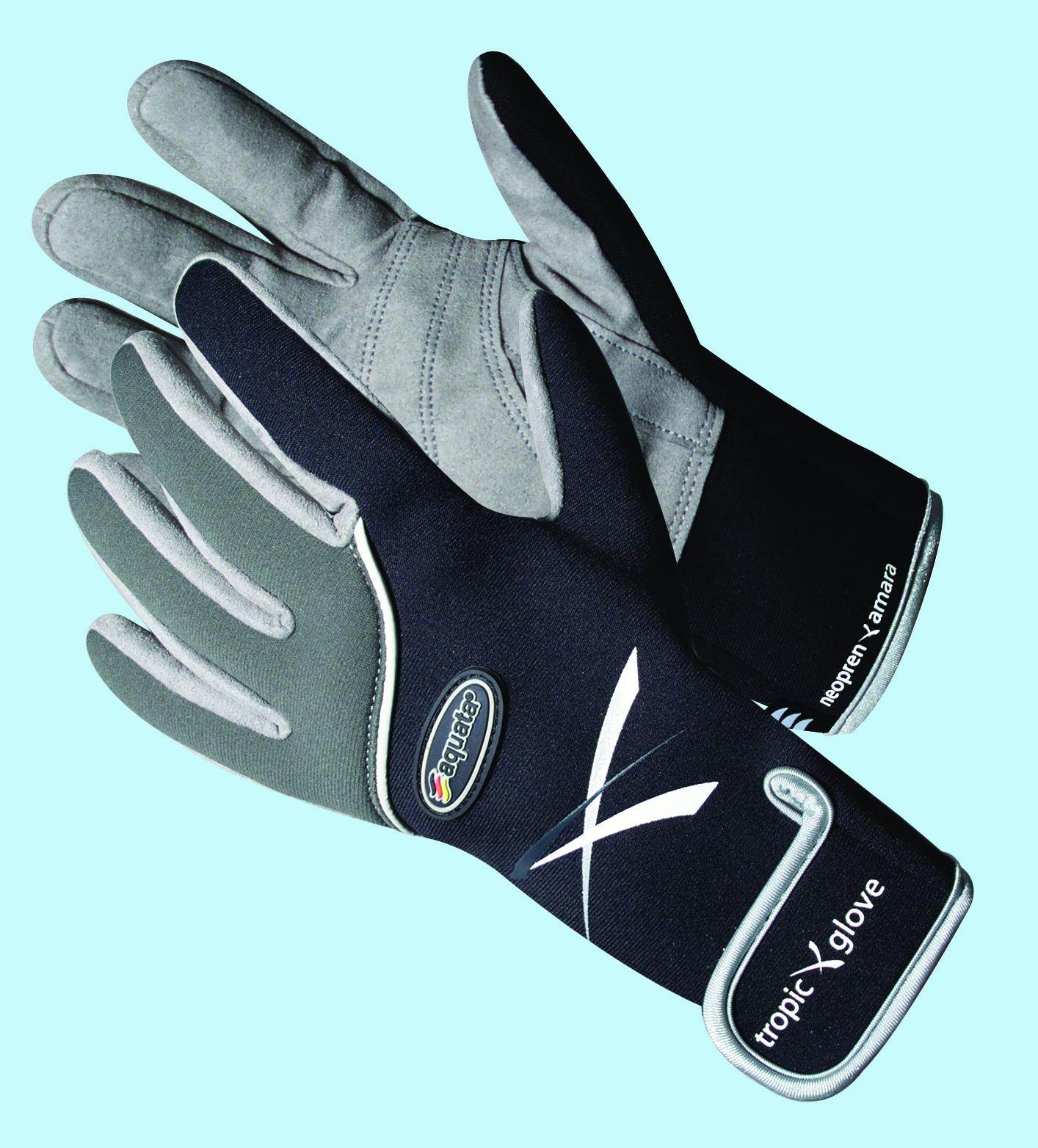 Tropen Tauchhandschuh, dünnes Neopren und Amara leder    Model  Tropic glove