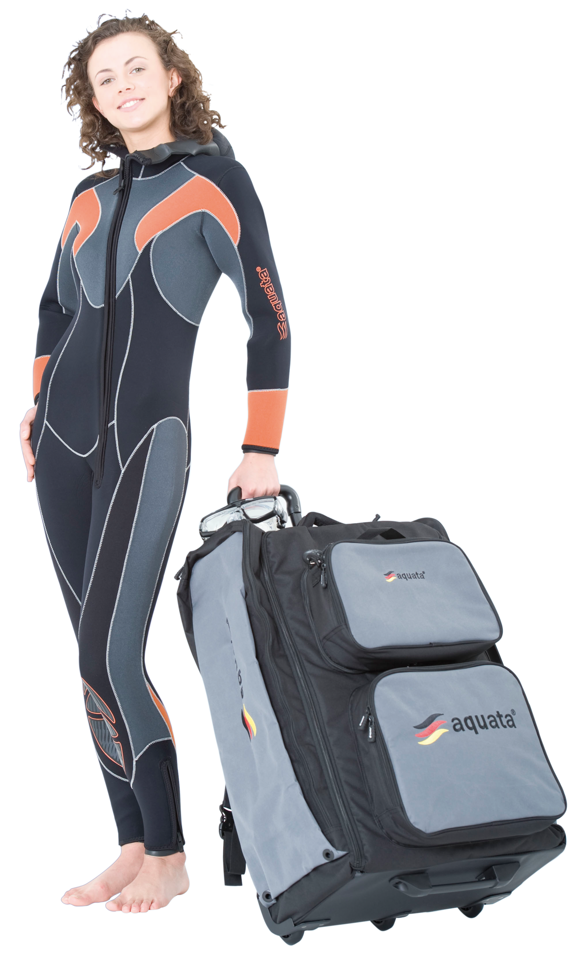 Halbtrocken Tauchanzug Overall   Damen  mit fester Haube  Modell  Nord Eco 9